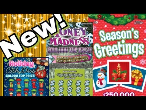NEW TICKETS! $10 Seasons Greetings, $5 Holiday Cash Dash, $5 Mad Money Texas Lottery