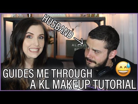 My HUSBAND Guides Me Through A KATHLEEN LIGHTS Makeup Tutorial | Tag thumbnail
