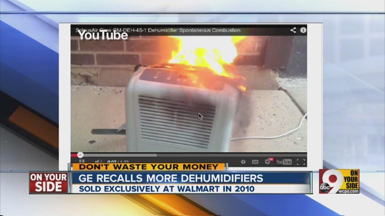 Ge Recalls More Dehumidifier Youtube