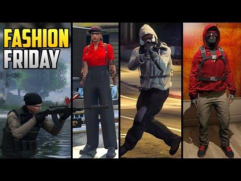 GTA 5 Online FASHION FRIDAY! (Tactical Hunter, Urban Rider, Benny's Sister & MORE)