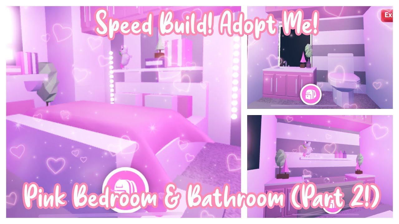 See more ideas about cute room ideas roblox adoption. Aesthetic Pink Bedroom Bathroom Adopt Me Speedbuild Pt2 Youtube