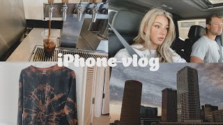 vlogging on my iPhone for the day! advice on starting a vlog channel, city walks & tie dye at home!