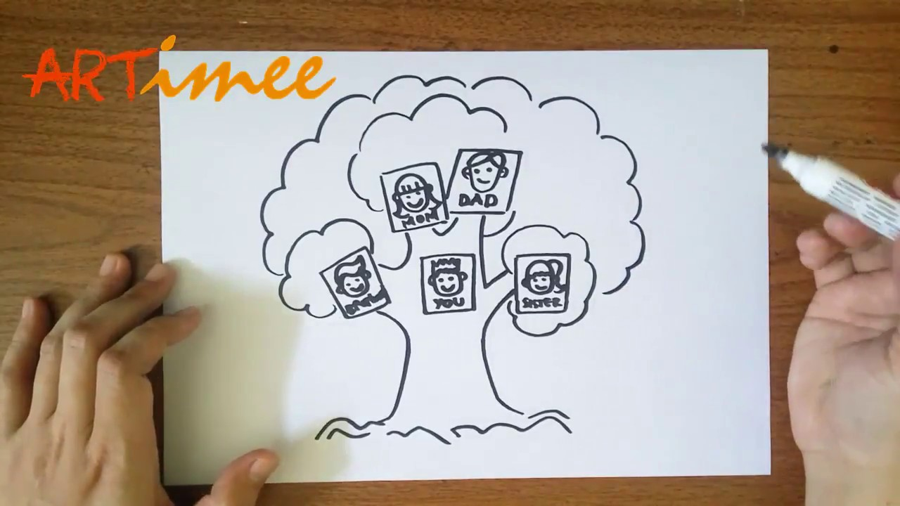 how to draw a family tree youtube