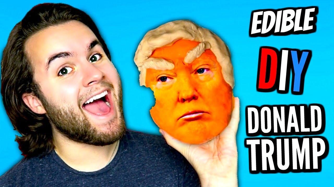 DIY EDIBLE DONALD TRUMP | Eat Trump Cake! | How To Make Orange ...
