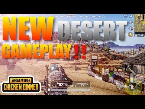 PUBG Mobile Update 2018 New Desert Map Gameplay Ultra graphics 1080p