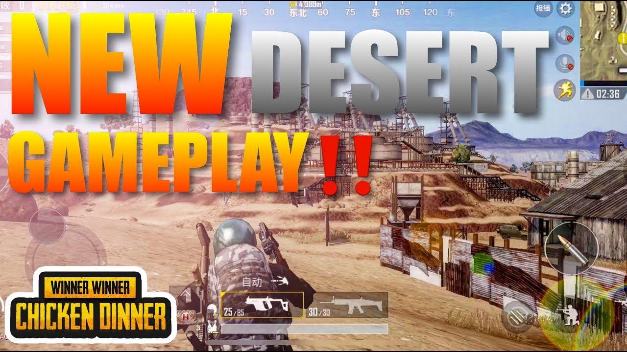 Pubg Mobile Ultra Hdr Gameplay: PUBG Mobile Update 2018 New Desert Map Gameplay Ultra