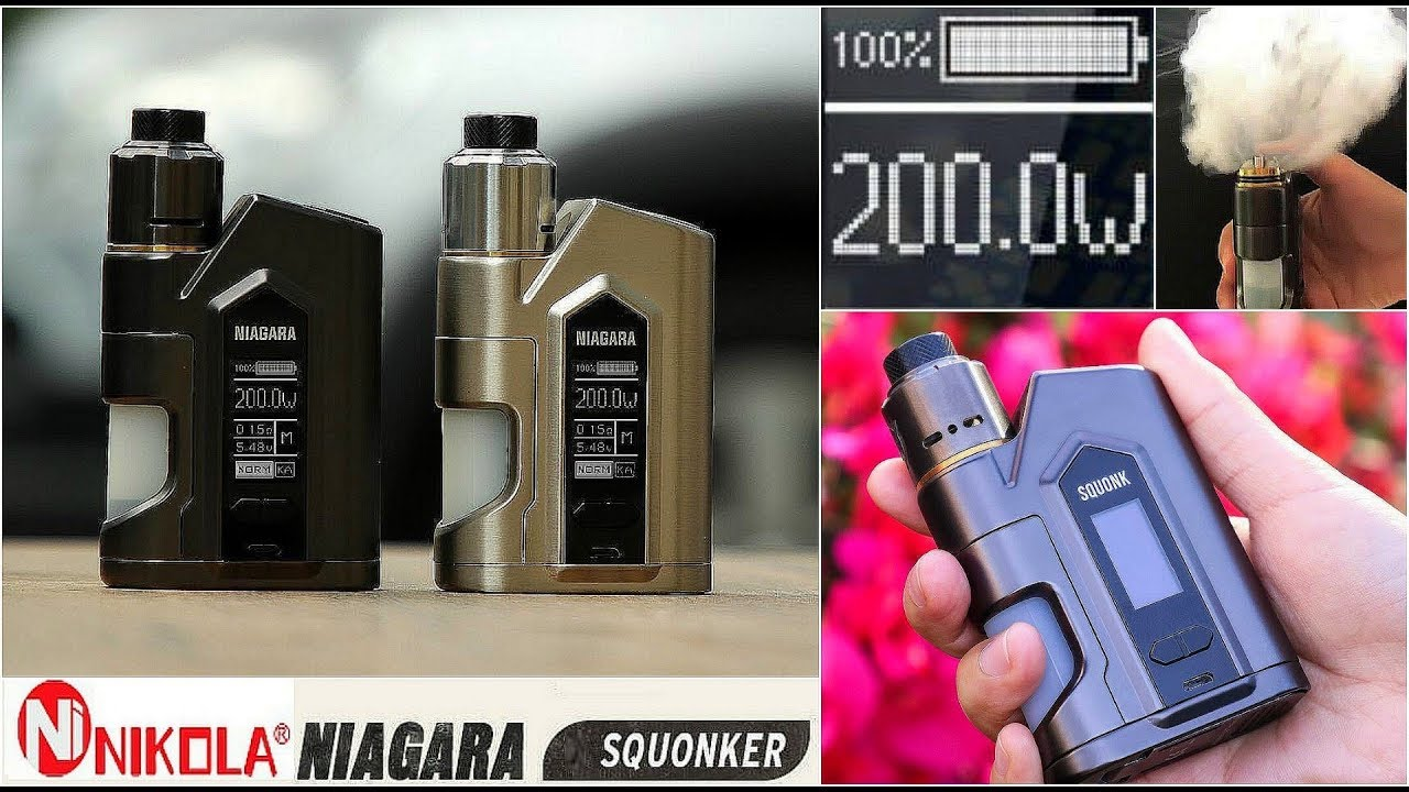 Nikola Niagara 200W Regulated Squonk Mod | VapeGearNews