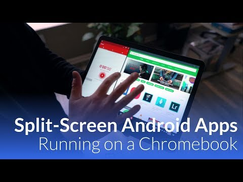Android Apps Running-Split Screen On A Chromebook