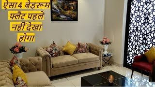4 bedroom modern style apartment with luxury interior in highland park zirakpur