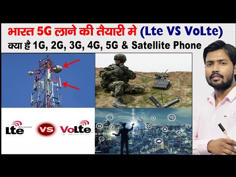 What is 2G, 3G, 4G, 5G, LTE, VoLTE   How Does Mobile Phone Work   Parts Of Mobile Tower   MIST Cable