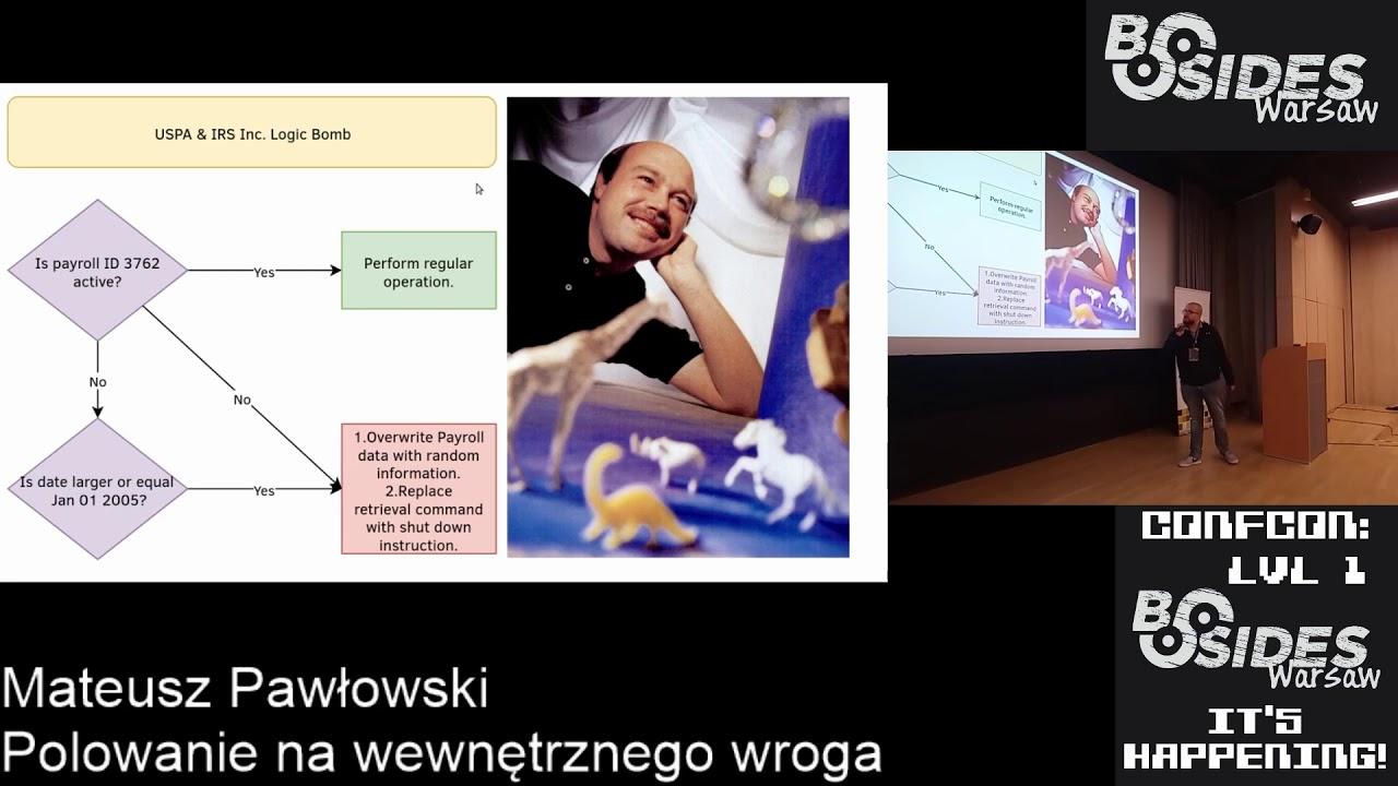 BSides Warsaw 2019: Polowanie na wewnętrznego wroga - Mateusz Pawłowski