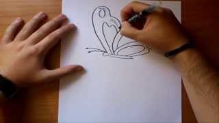 Como dibujar una mariposa  paso a paso 2 | How to draw a butterfly 2