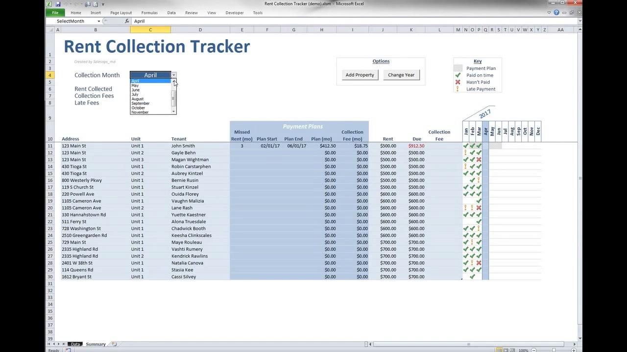 15/10/2020· a rent payment tracker spreadsheet is a significant way of retaining track of the amount of rent owed over the period of the rental. Rent Collection Tracker Youtube