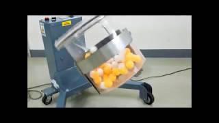 容器内で原料が動くことで混合が進行します。