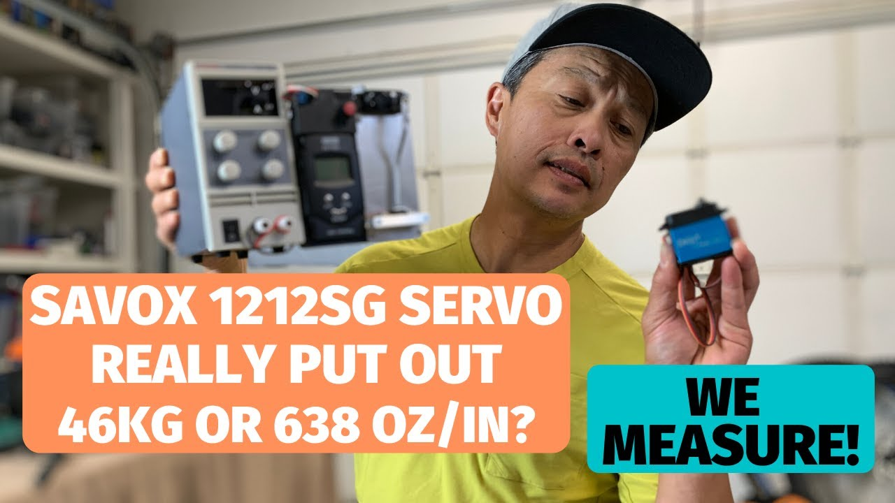 Savox 1212sg Servo reviewed and measured - claimed 638 oz/in or 46 kg true?
