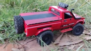 Modified WPL C24 Toyota with a STEPNEY |  Devil HUNT TRAIL | RC TOYOTA SUV | RC With Popeye
