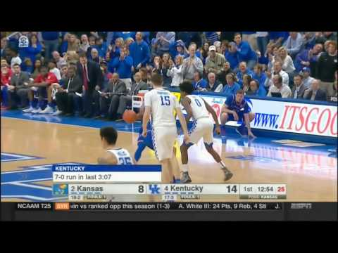 (NCAAM) #2 Kansas at #4 Kentucky in 40 Minutes - 1/28/17