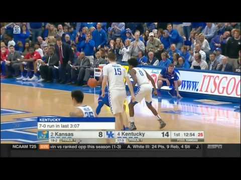 (NCAAM) #2 Kansas at #4 Kentucky in 40 Minutes - 1/28/17