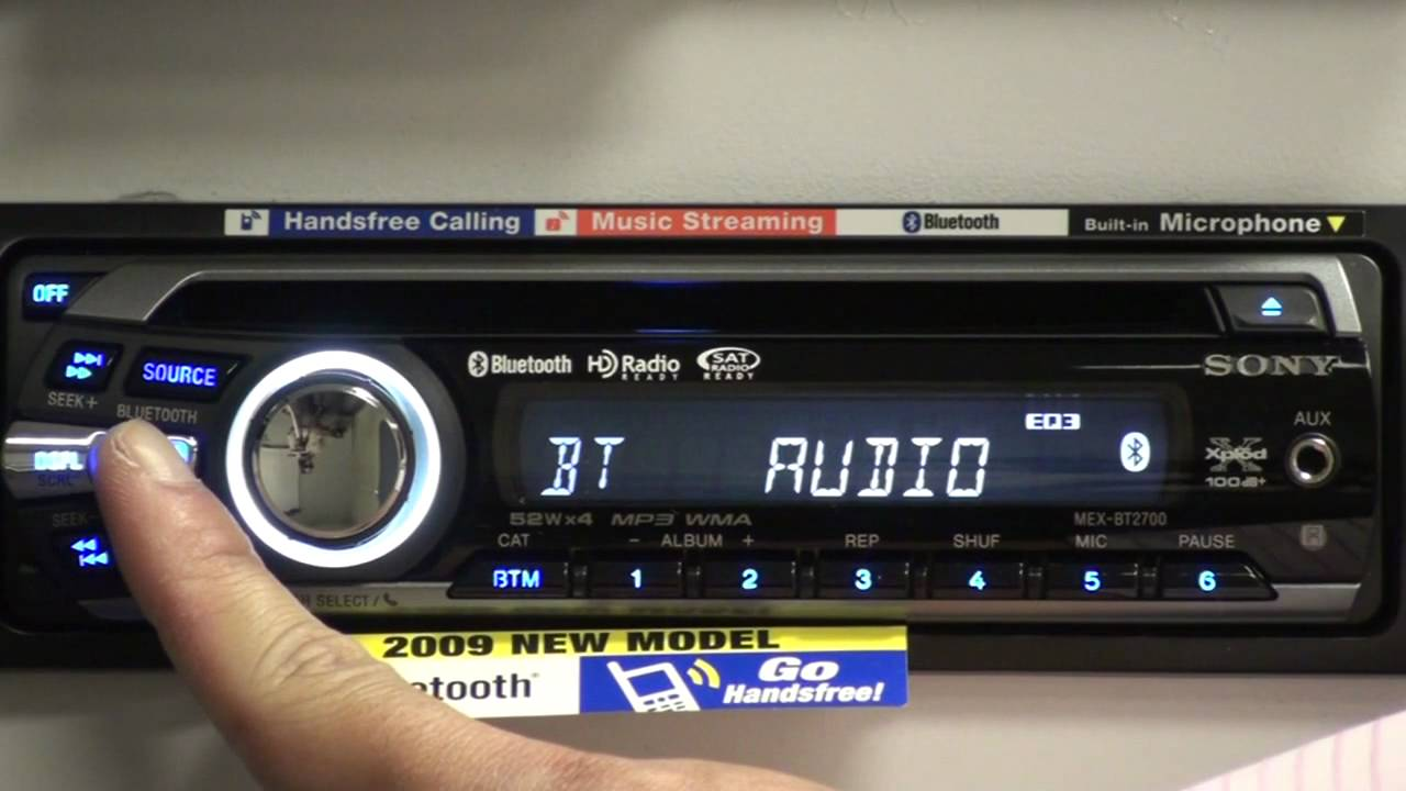 sony xplod bluetooth bt head unit overview youtube rh youtube com