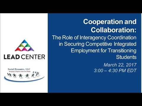 WEBINAR: Interagency Coordination in Securing CIE for Transitioning Students