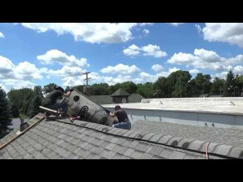 Removing Free Solar Heating Panels From Old House