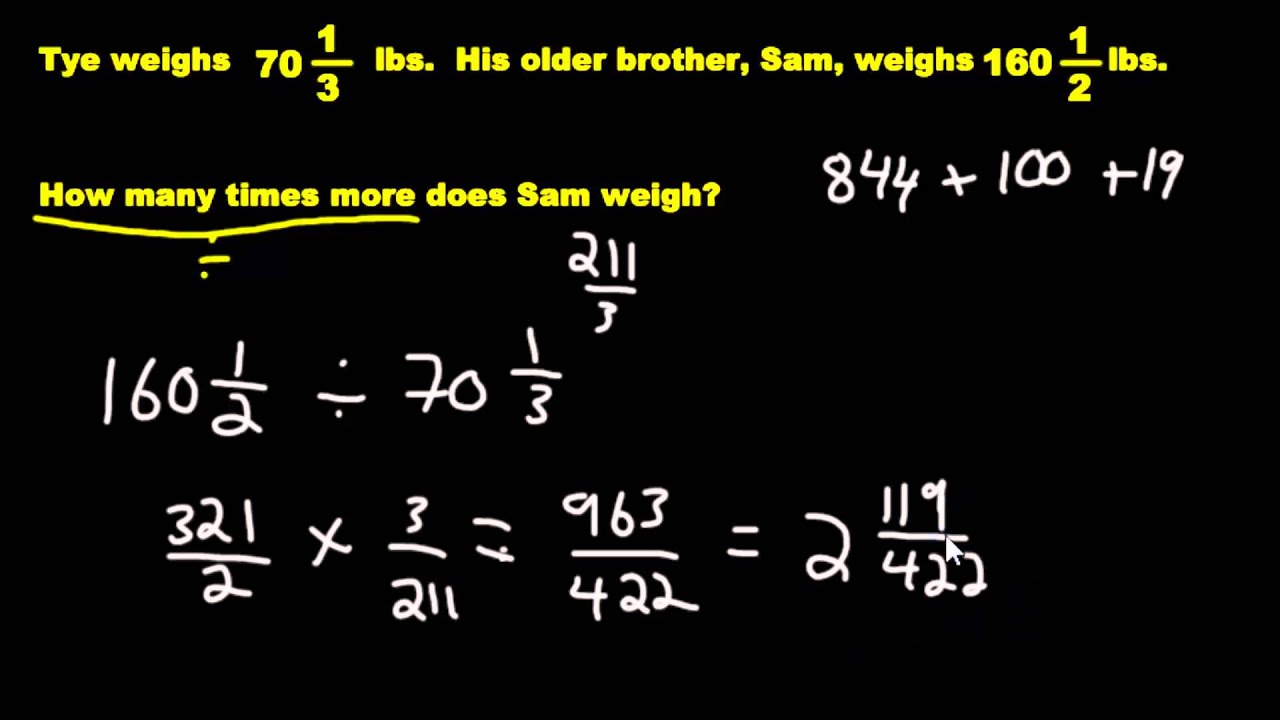 Word problems multiplying and dividing fractions youtube word problems multiplying and dividing fractions robcynllc Choice Image