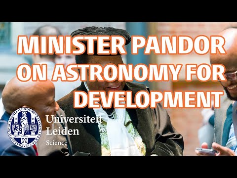 """South African Minister Pandor on """"Astronomy for Development"""""""