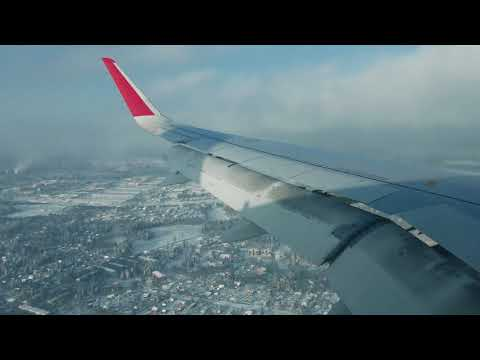 Kaliningrad (Khrabrovo) - Moscow (Sheremetievo), 6 February 2018, Airbus A320, takeoff and landing.