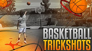 BASKETBALL TRICKSHOTS! vs MY BROTHER