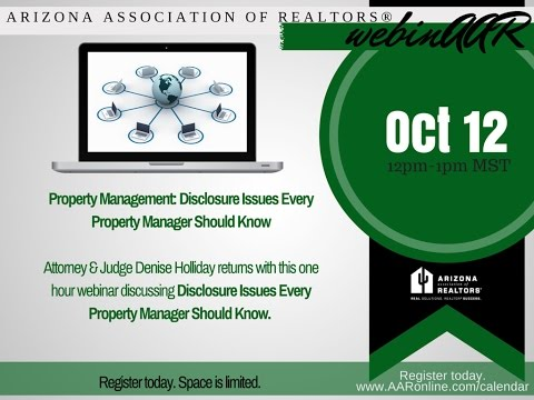 Property Manager's Duty To Disclose 10.12.2016