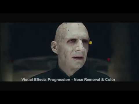 Creation of Voldemort's face via VFX & makeup - YouTube