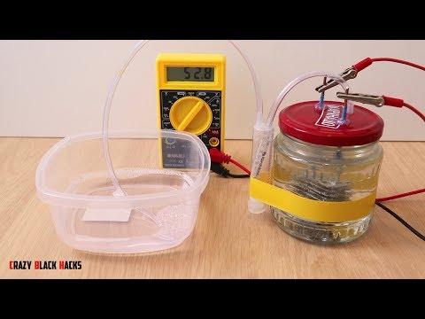 Получение водорода в домашних условиях