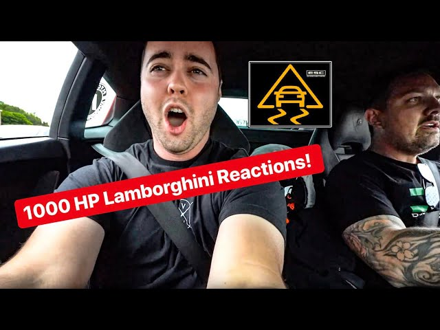 REACTIONS TO 1000 HP TURBO LAMBORGHINI WITH NO TRACTION CONTROL! *VEHICLE VIRGINS & THE STRADMAN*
