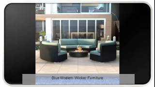 Blue Modern Wicker Furniture