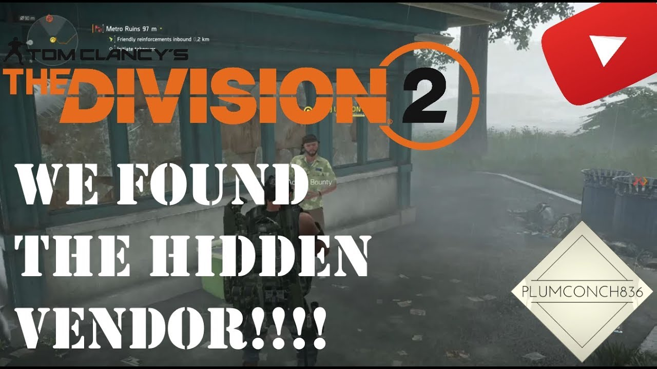 The Division 2 - HOW TO UNLOCK SECRET VENDOR HIGH END WEAPONS and GEAR -  SNITCH and GUN RUNNER!!!