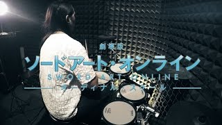 Gambar cover 【劇場版 ソードアート・オンライン】LiSA - Catch the Moment を叩いてみた - Sword Art Online the Movie Theme Song Drum Cover