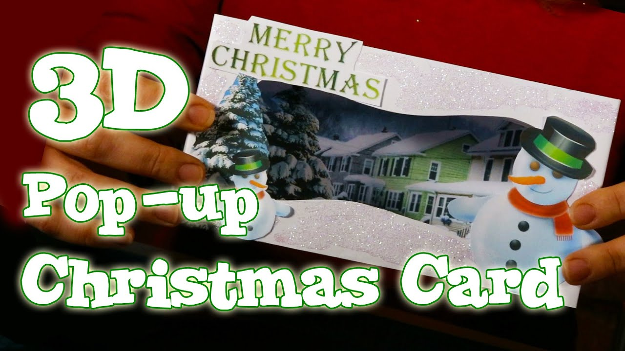 How to make a 3d pop up christmas card snowman scene for 3d xmas cards to make