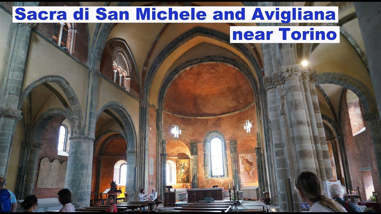 Sacra di San Michele and Avigliana near Torino in 4k