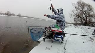 Фидерная рыбалка в Лыткарино Зимний фидер на Москва реке