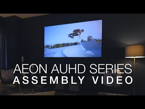 AEON AUHD Projection Screen  Unboxing & Assembly