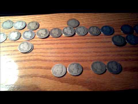 Junk silver Barber quarter roll from ebay