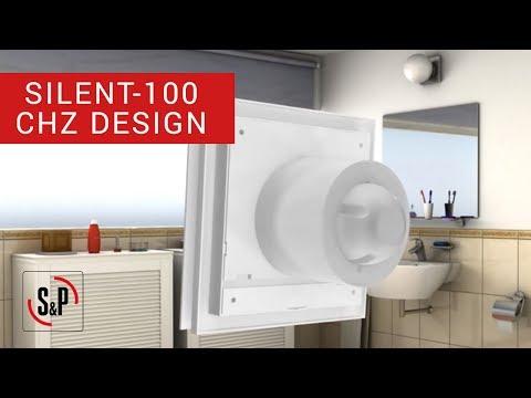 SILENT-100 CHZ DESIGN S&P: Bathroom Extract Fans (Installation)