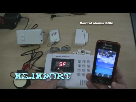 Central Alarme com discadora GSM furto roubo assalto violencia