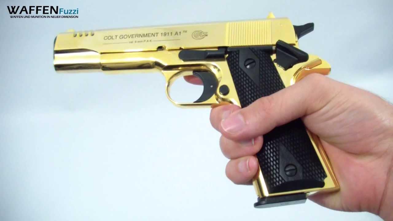 Colt Goverment 1911 A1 Schreckschusswaffe 9mm Gold Rush Edition Gaswaffentest Wwwwaffenfuzzide