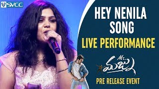 Hey Nenila Song LIVE Performance Mr Majnu Pre Release Event Akhil Akkineni Jr NTR Nidhhi