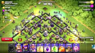 CLASH OF CLANS TH11 : FABOTUBE vs JAKIDALE - ATTACCO CON 100 STREGHE