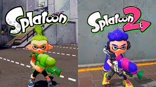 Splatoon VS Splatoon 2 | Graphics Evolution | Comparativa
