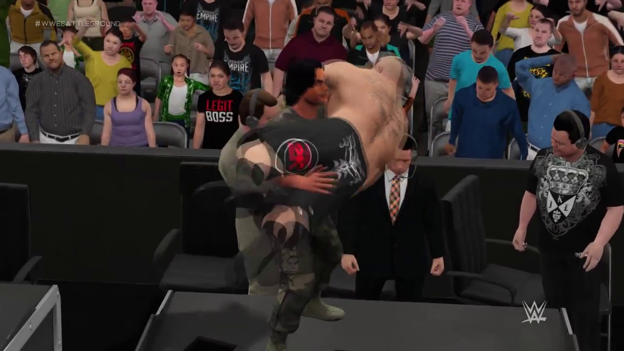 MS Dhoni and Virat Kohli vs Brock Lesnar and Roman Reigns tag team match Best video