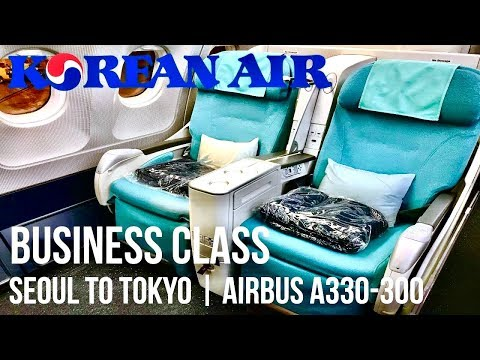 Korean Air Business Class Seoul to Tokyo | Airbus A330-300