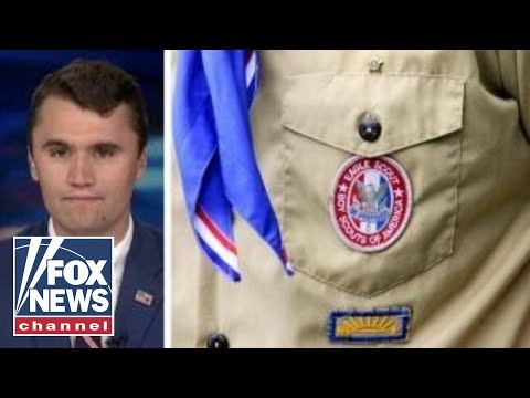 Charlie Kirk reacts as girls begin joining the Boy Scouts